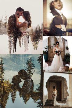 Wedding Trends: Double Exposure Engagement & Wedding Photography Ideas – wedding photography bride and groom Wedding Goals, Wedding Trends, Wedding Pictures, Wedding Planning, Dream Wedding, Wedding Day, Romantic Wedding Receptions, Romantic Weddings, Wedding Ceremony