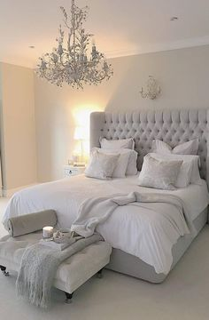 54 Modern Bedroom Design Trends and Ideas in 2019 Part bedroom ideas; bedroom ideas for small room; Serene Bedroom, Modern Bedroom Decor, Bedroom Inspo, Beautiful Bedrooms, Modern Decor, Contemporary Bedroom, Rustic Modern, Grey Bedroom Design, Contemporary Headboards