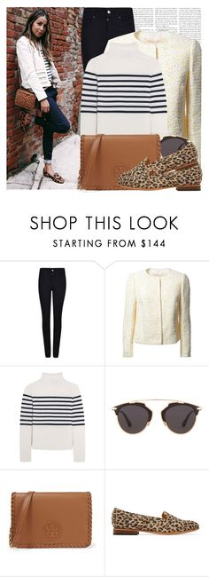 """""""Blogger Style: Sincerely Jules"""" by megi32 ❤ liked on Polyvore featuring Sézane, Armani Jeans, Giambattista Valli, Topshop Unique, Christian Dior, Tory Burch and Dieppa Restrepo"""