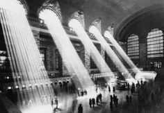 Hal Morey's iconic photograph of shafts of light inside New York City's Grand Central Station. http://www.photographytalk.com/photography-articles/3300-let-your-camera-see-the-light#