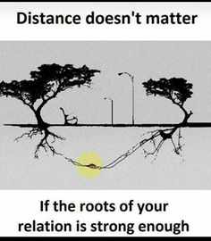 Distance doesn't matter if the roots of your relation is strong enough. Real Life Quotes, Reality Quotes, True Quotes, Relationship Quotes, Funny Quotes, Relationships, Tough Love Quotes, Story Quotes, Deep Words
