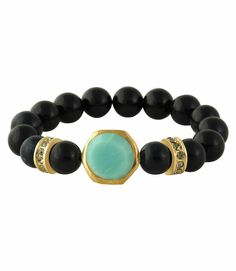 Baja Breeze Beaded Bracelet #Turquoise #Black #Fashion #Jewelry #Gift #Ideas