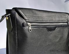Men's Black City Bag, messeneger bag designed by Christian Leather. Iwc, Watch Model, City Bag, Seiko, Christian, Leather, Bags, Handbags, Christians