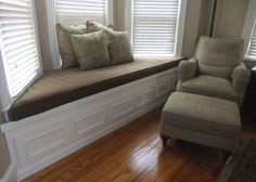 Custom Fit Bay Window Seat With Below Storage
