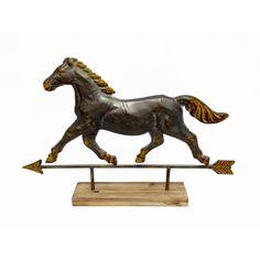 Embossed Metal Horse Table Figurine