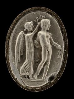 Sealstone engraved with an athlete.  Provenance : temple d'Artémis (Ephèse). | The Trustees of the British Museum