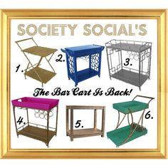 Society Social's bar carts @societysocial