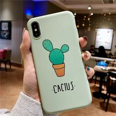 Cute Green Cactus iPhone Case Protector Phone Cover Are you a cactus lover? Or looking for the best gift for the cactus lover? Art Phone Cases, Diy Phone Case, Iphone Case Covers, Candy Phone Cases, Green Cactus, Summer Iphone Cases, Cute Cases, Coque Iphone, Iphone 6