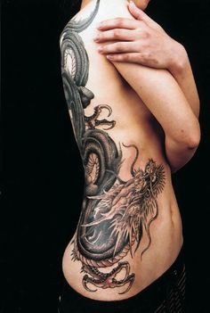 From Genko  En Tattoo in Japan. Reminds me of the movie Girl with the Dragon Tattoo. A Swedish movie I really like.