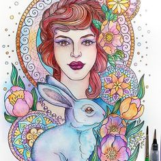 Haha. You will not believe it, but I do not have the patience of coloring colored pencil. So I paint with watercolor! Watercolor faster, I think! What do you say!?! 😃 my Coloring books on Amazon! 💕MAGIC BEAUTY All active links are on my site! ✔www.nadiyavasilkova.com 💙👍 I recommend that you watch a video on the content of the book.  #nadiyavasilkova #컬러링북 #塗り絵  #ausmalbuch  #mycolorfulmoment  #coloring #coloringbook #coloringforadults #coloringbookforadults #adultcolouring…