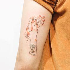 tattoo ink inked handshake splatter