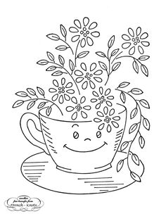 Vintage Embroidery Patterns | Smiling Kitchen Hand Embroidery Transfer Patterns