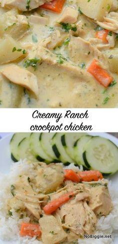 easy creamy ranch crockpot chicken | NoBiggie.net