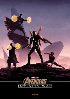 NEW 'AVENGERS: INFINITY WAR' INTERCONNECTED POSTERS! The posters were designed by Matt Ferguson and will be available for free from Odeon Cinemas!