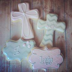 Vintage baptism cookies