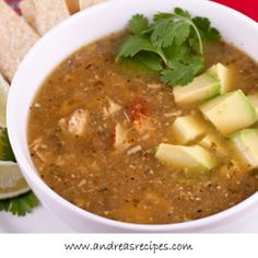 Roasted Tomatillo Soup With Chicken (Sopa Verde Con Pollo)