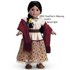 American Girl Doll Josefina's Weaving Outfit