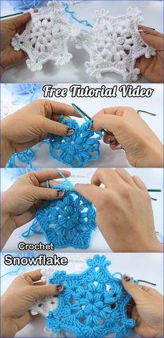 Christmas ornament - How To Crochet a Snowflake Free Tutorial