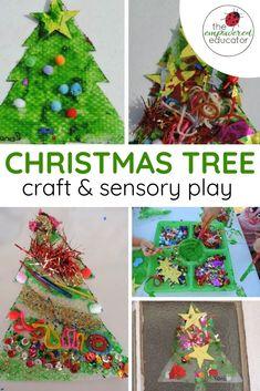 Sensory Christmas Tree Craft - The Empowered Educator