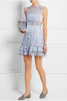 Self-Portrait | Guipure lace mini dress | NET-A-PORTER.COM