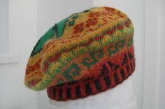 Fairisle beret handknitted in 100 per cent wool by SloweTams, £25.00