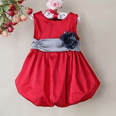 Buy Red Love Bloom Summer Dress for little princess #babydressonline   Sizes: 3-6 Months 6-12 Months 1-2 Years 2-3 Years 3-4 Years