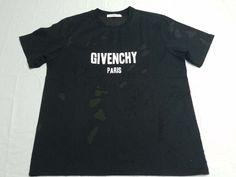 4280cf230 Givenchy Columbian Fit Distressed Destroyed Logo T-Shirt Black Sz: Small M  L #fashion