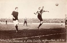 Woolwich Arsenal 1 Notts Co 1 in Sept 1905 at Plumstead. Action from the Division 1 fixture. Woolwich Arsenal, British Football, Laws Of The Game, Football Images, Association Football, Most Popular Sports, Tell The World, Vintage Football, Family History
