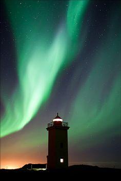 Aurora borealis @ Stafnes lighthouse