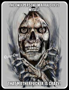 """Skull Breaking Out"" by @ deviantart ☠️ The Crow, Reaper Tattoo, Totenkopf Tattoos, Skull Pictures, Skull Wallpaper, Biker Quotes, Warrior Quotes, Desenho Tattoo, Skull Art"