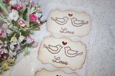 Stickers++Envelope+Seals++Love+Birds++by+ShabbyPeaDesigns+on+Etsy,+$6.95