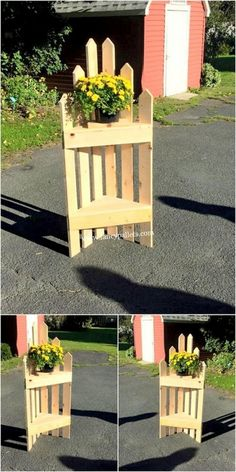 Updated Designs And Ideas of Reused Wood Pallet Furniture - Fancy Pallets Garden Furniture Inspiration, Pallet Garden Furniture, Diy Furniture Plans, Furniture Storage, Woodworking Projects Diy, Wooden Crafts, Diy Wood Projects, Wooden Diy, Wood Pallet Planters