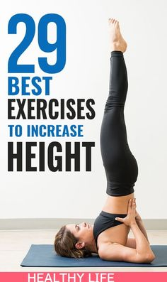 29 Best Exercises To Increase Height: the best possible way to increase height is naturally combining an exercise routine with the right diet. Proper exercise helps in toning and strengthening your muscles, releasing the growth hormones which are responsi Gym Workout For Beginners, Gym Workout Tips, Fun Workouts, At Home Workouts, Fitness Exercises At Home, Workout Body, Fitness Hacks, Tummy Workout, Body Workouts