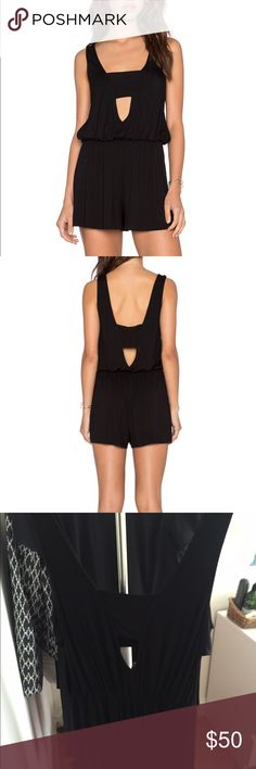 Revolve Clothing Cecilia Romper Worn once. Soft, cotton material so perfect for a night out or a beach cover up! You can wear it so many ways. Never washed, dry cleaned after I wore it Revolve Clothing Dresses