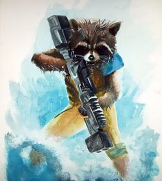 Rocket Raccoon by Paul Limgenco