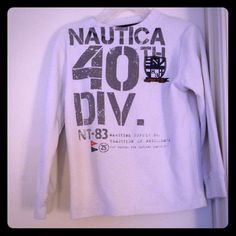 Thermal like material Nautical shirt for kids Off white color, good condition Nautica Tops Tees - Long Sleeve