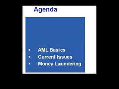 Get in-depth insights on anti-money laundering requirements and ways of meeting them with expert Jim George.