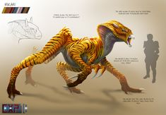 Salticere Creature Concept Sheet Irikari Creature Concept Sheet by franeres on DeviantArt Monster Concept Art, Alien Concept Art, Creature Concept Art, Monster Art, Creature Design, Mythical Creatures Art, Alien Creatures, Mythological Creatures, Magical Creatures