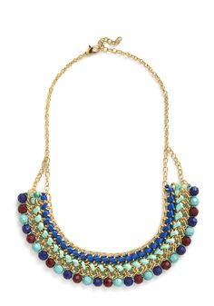 Bright Across the Way Necklace. Your new neighborhood is full of novel places to discover - head out for adventure in this multicolored statement necklace! #multi #modcloth