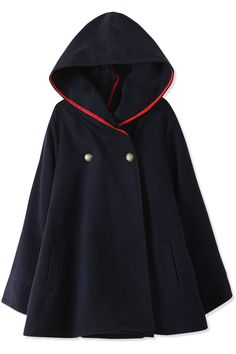 Shop Essential Fashion Women Hooded Woolen Cape at victoriaswing, personal womens clothing online store! high quality, cheap and big discount, latest fashional style! Diy Fashion Cape, Fashion Tips, Fashion Trends, Fashion Ideas, Fashion Design, Capes For Women, Jackets For Women, Clothes For Women, Ladies Clothes
