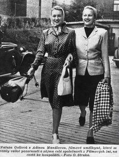 Proč si přítelkyně Nataša Gollová a Adina Mandlová nemohly přijít na jméno? – Epochaplus.cz Wwii, 1930s, Milan, Cinema, Actors, Celebrities, Lady, Festive, Artists
