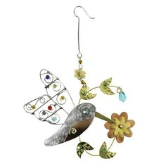 Baby Hummingbird Multi Metal Ornament - Fire & Ice