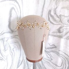 Swarovski Bridal Halo Headpiece Rose Gold and White Opal