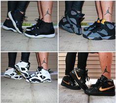 couples & their matching JORDAN'S! i love it<3