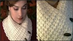 How To Crochet A Collar Scarf ~ Tutorial, thanks so! xox
