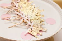 Ready To Ship  Princess Crown Cupcake Toppers by BestDayEverBashes