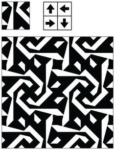 Adaptive Rugs & Tile Spin: The Curse of Truchet's Tiles Tile Patterns, Textures Patterns, Print Patterns, Design Patterns, Op Art, Textile Prints, Textiles, Zentangle, Graph Paper Art