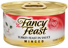Purina Fancy Feast Wet Cat Food Minced Turkey Feast in Sauce 3Ounce Can Pack of 24 ** To view further for this item, visit the image link.