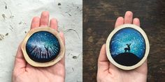 paintings on recycled wood