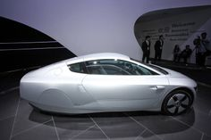 Volkswagen XL1 car on display at the China International Exhibition Center during the Auto China 2014 Beijing International Automotive Exhibition in Beijing.